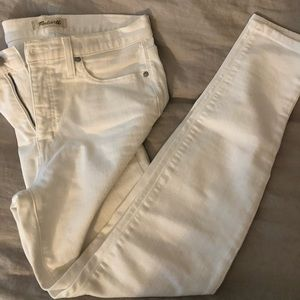 White madewell jeans
